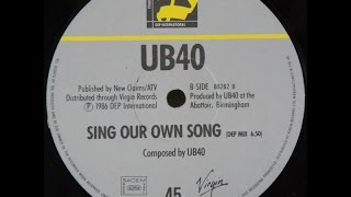 Download UB40 - Sing Our Own Song (DEP Mix) MP3 song and Music Video