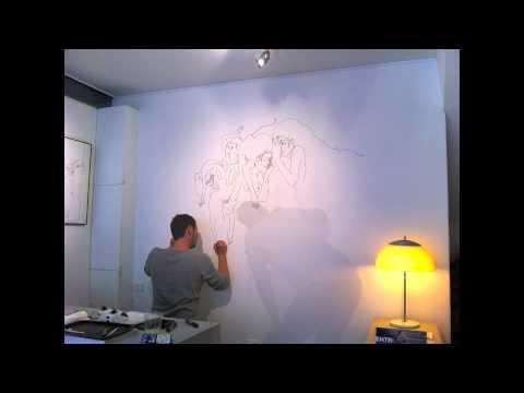 Dessin Mural Sur Commande Réalisé Par Xavier Devaud - Youtube