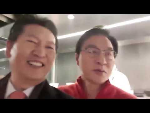 최초 공개. 정두언의원 식당 판도라 송년회