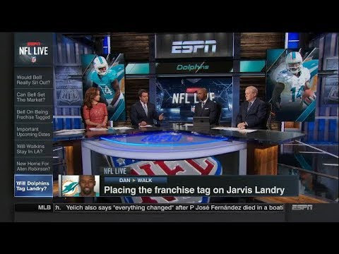 Placing the Franchise Tag on Jarvis Landry, Allen Robinson & Sammy Watkins | NFL Live | Feb 20, 2018