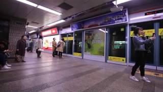 【韓国】 釜山都市鉄道(地下鉄)1号線 チャガルチ駅 부산 도시철도 1호선 자갈치역  Busan Metro Line1 Jagalchi Station, Korea (2018.10)