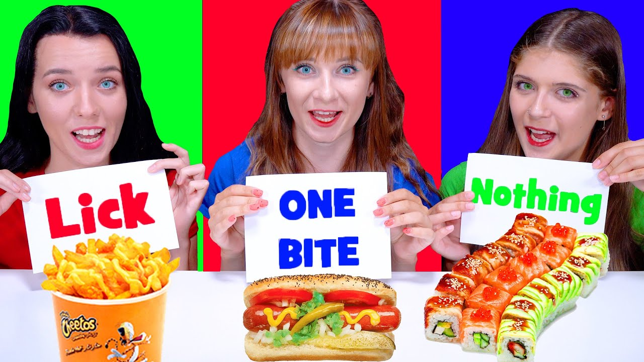 ASMR One Bite, Lick Or Nothing Food Challenge By LiLiBu