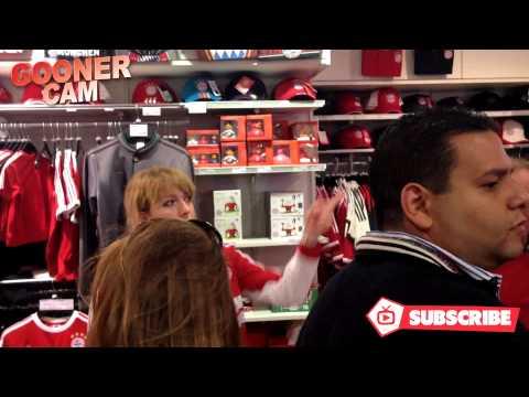 AFTV visit Bayern Munich Fan Shop to buy Arjen Robben Diving Gear