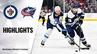 NHL Highlights | Jets @ Blue Jackets 1/22/20