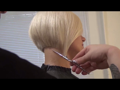 Hairdresser education: bob haircut step by step