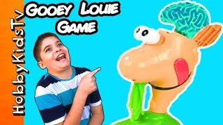 Gooey Louie BOOGER Game CHALLENGE! Pick A Champion by HobbyKidsTV