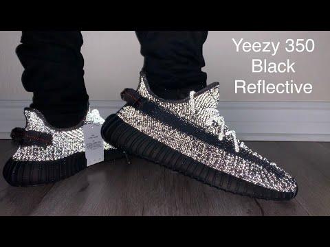 black reflective yeezy