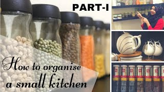 How i organized my small kitchen(PART-I)/with some tips and tricks/ എന്റെ കുഞ്ഞടുക്കള/kitchen tour