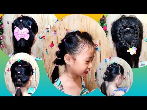 Các Kiểu Cột Tóc Dễ Thương Cho Bé Gái – Cute Little Girl's Hairstyle Tutorials – Tết tóc đẹp #142 | Tổng hợp kiến thức về tóc đẹp mới nhất