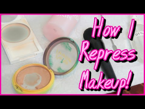 How I Repress Makeup! // How to Save Broken or Shattered Makeup Powders! | Lauren Mae Beauty