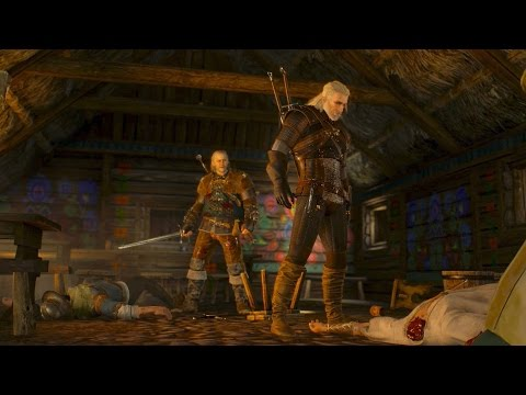 Geralt and Vesemir Slaughter Folks in Tavern: Incident at White Orchard (Witcher 3 | Quest)