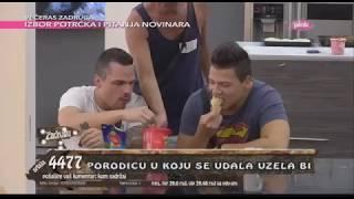 Zadruga - Stranci jedu brzu hranu pred zadrugarima - 21.05.2018.