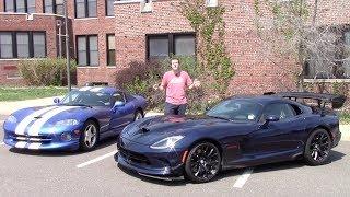 2016 Dodge Viper ACR vs. 1997 Dodge Viper GTS Comparison Test!