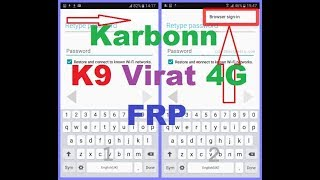 Karbonn K9 Viraat 4G FRP Bypass Google Account Verfication Done With Miracle box, Bypass Method Fail