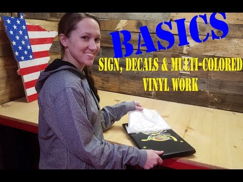 Basic For Starting Your Home Decal /Vinyl Graphic Business