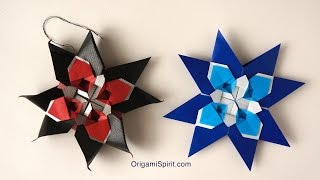 Meditative Quilt Star -Lovely Holiday Paper Ornament