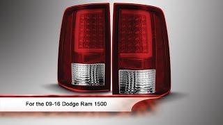 09 16 dodge ram 1500 light bar led tail lights