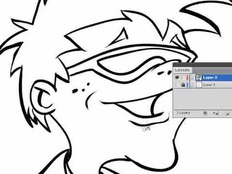 How to Ink a Drawing in Adobe Illustrator-Blob Brush Tool - YouTube