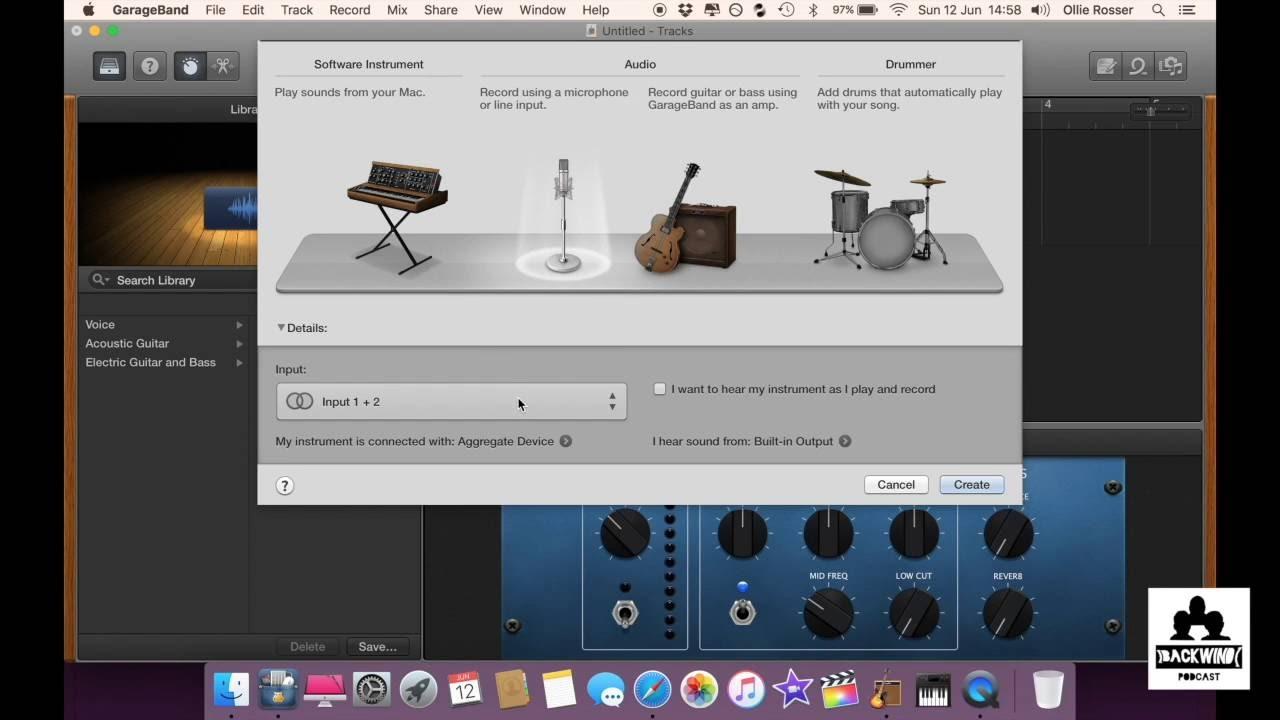 using multiple usb microphones in garageband youtube. Black Bedroom Furniture Sets. Home Design Ideas