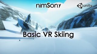 Basic Ski Physics in VR - Fun infinite skiing made in 1 day!