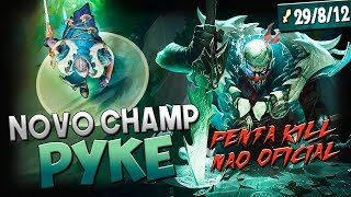 NOVO CHAMP TÁ BROKEN! 29 KILLS, PENTA N.O & PLAYS! - PYKE JUNGLE GAMEPLAY - RodiL