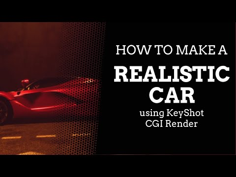 How To Make A Realistic Car Using KeyShot - CGI Render