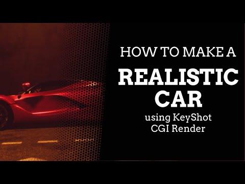 How To Make A Realistic Car Using KeyShot - CGI Render
