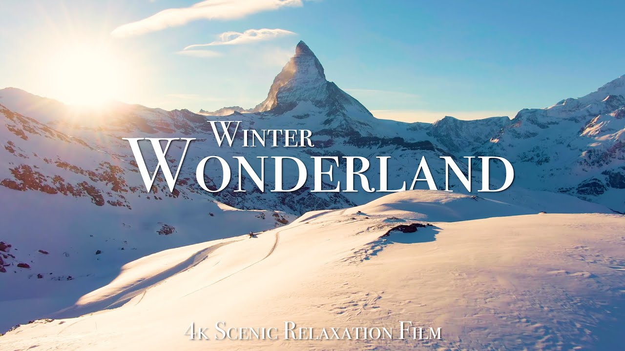 Winter Wonderland 4K - Scenic Relaxation Film with Calming Music