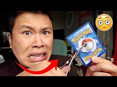 INSANE POKEMON FLIP IT OR RIP IT CHALLENGE!!! (DESTROYED A SECRET RARE CARD NOT CLICKBAIT)