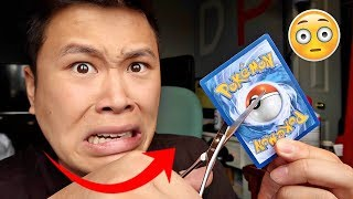 INSANE POKEMON FLIP IT OR RIP IT CHALLENGE!!! (DESTROYED A SECRET RARE CARD NOT CLICKBAIT)