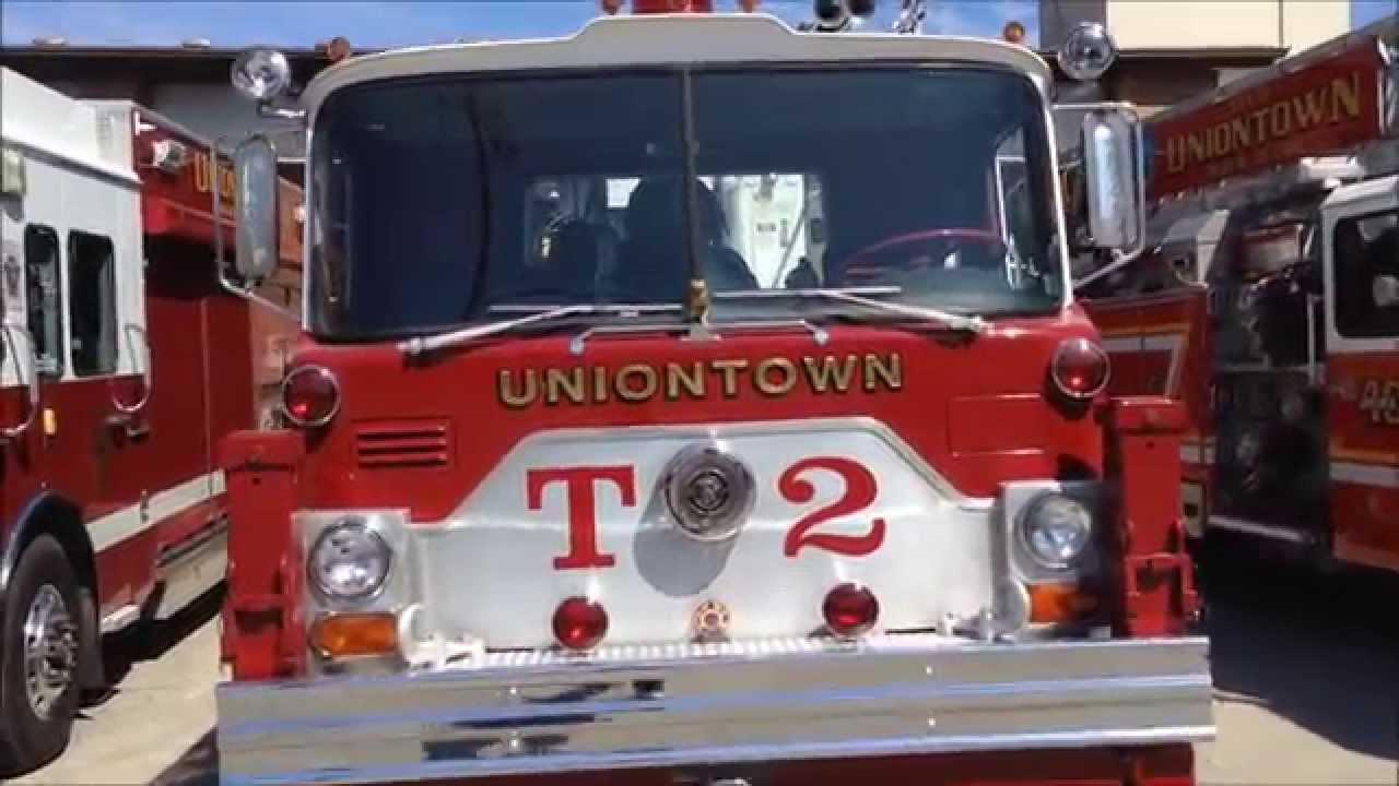 uniontown bureau of fire station 40 a mack tower ladder 40 2 walk