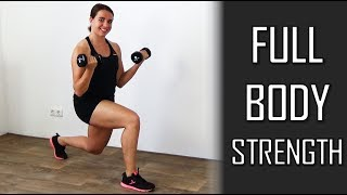 20 Minute Full Body Strength Workout – With Dumbbells at Home