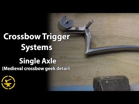 Single axle rolling nut trigger system - medieval crossbow