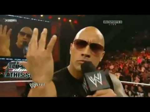 The Rock Says You Can't See Me, I Can See You to John Cena