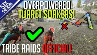 OVERPOWERED TURRET SOAKING DINO! | Tribe Raids Official PvP - Ark: Survival Evolved