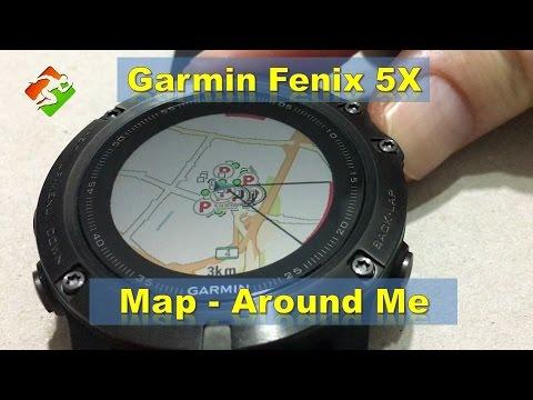 Garmin Fenix 5x Navigate Using Map Around Me Youtube