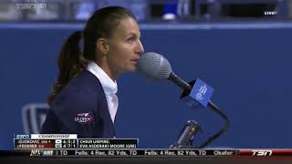 FLAWLESS CHAIR UMPIRE EVA ASDERAKI AT THE US OPEN 2015 MEN SINGLES FINAL