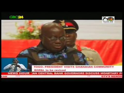 Togo: President Akufo-Addo meets Ghanaian community