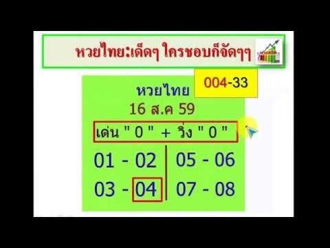 หวยไทย 1/10/59 ฟันมา 5 งวดซ้อน เข้า 5 บน(650-42) เน้นล่างนิดเดียว จับชนล็อคพารวย+วิ่งบน+อ.ชาญศักดิ์