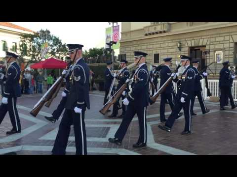 United States Air Force Honor Guard Drill Team - HD Quality Available