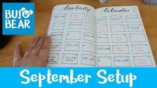 september setup   bullet journal   bujo bear