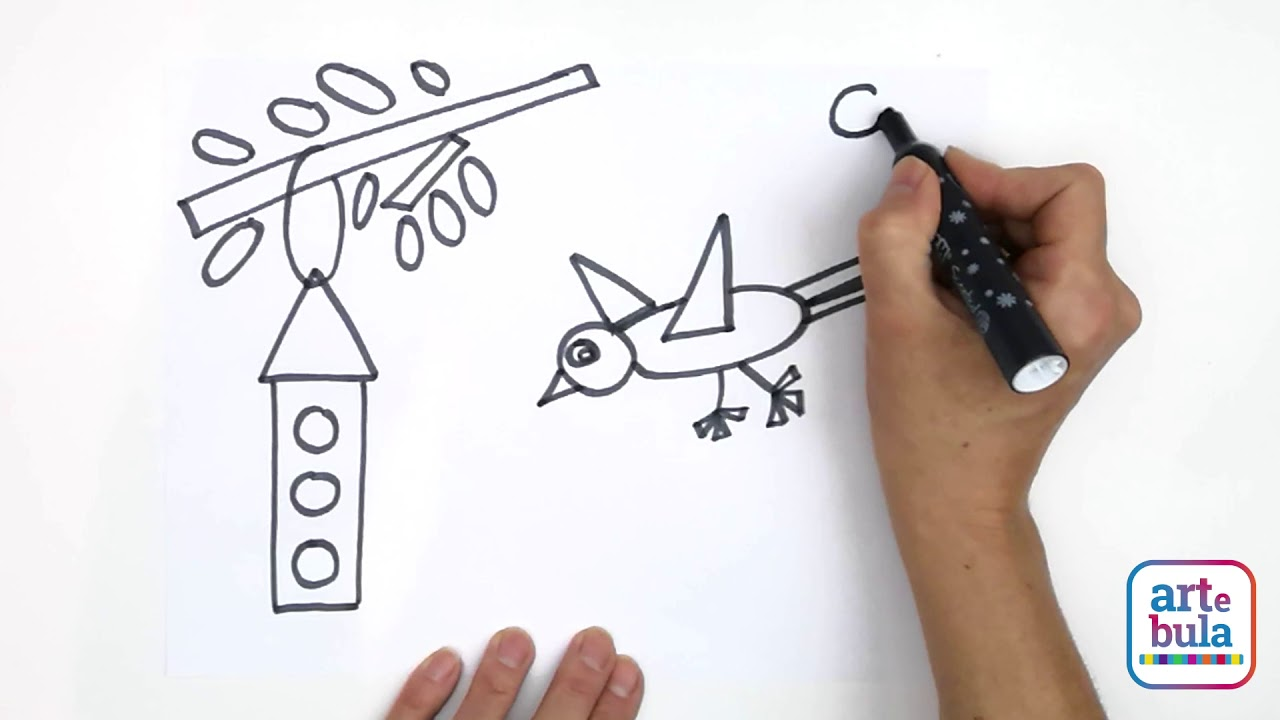 How to Draw a Flying Bird