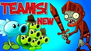NEW TEAMS! Plants vs. Zombies 2 KNIGHT ZOMBIE vs Team Plants PART 1 ✔