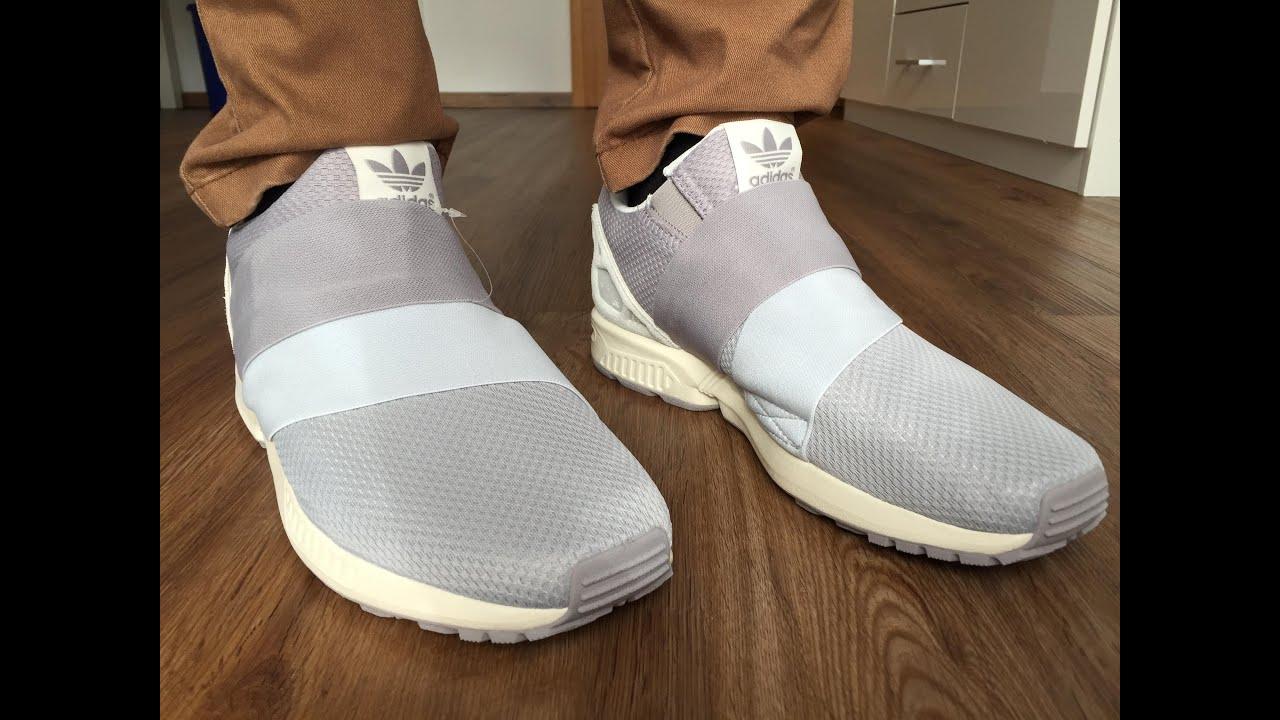 Adidas zx flusso scivolare su grey in piedi su youtube
