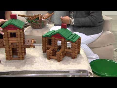 Lincoln Logs 100th Anniv. 111 Piece Building Set W/ Replica Guide With Jill Bauer