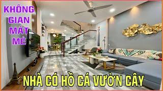 Bán nhà Gò Vấp   Căn nhà tuyệt đẹp có Hồ Cá Vườn Cây trên sân thượng tặng Full nội thất khi mua
