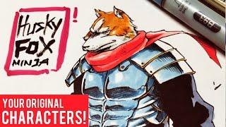 Drawing Your Original Characters: Husky Fox Ninja Ep. 9