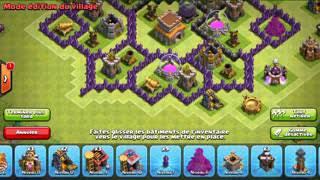 Clash of Clans Village HDV 8 Fleur ! Original et efficace contre les hdv 7,8,9