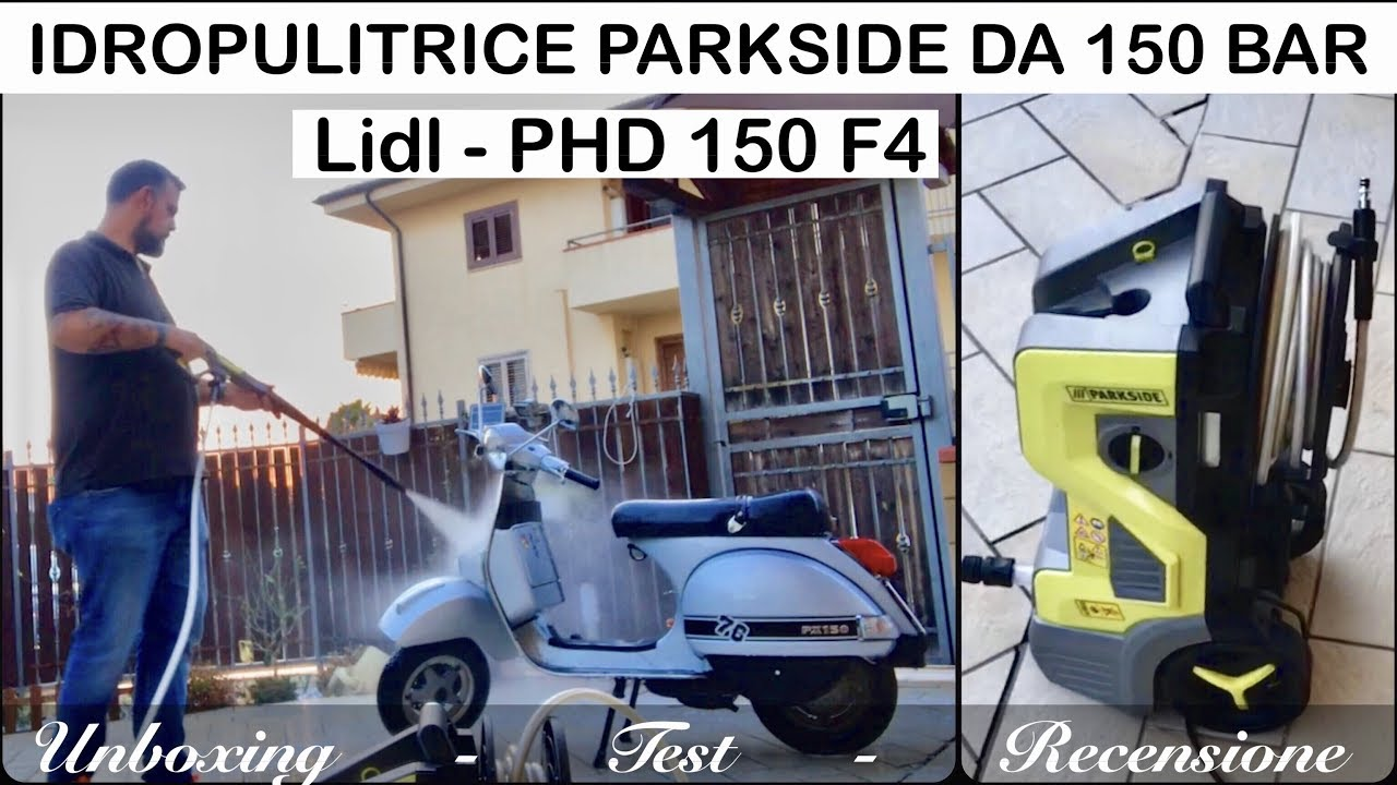 Idropulitrice parkside 150 bar phd 150 f4 lidl 15 mpa for Idropulitrice parkside