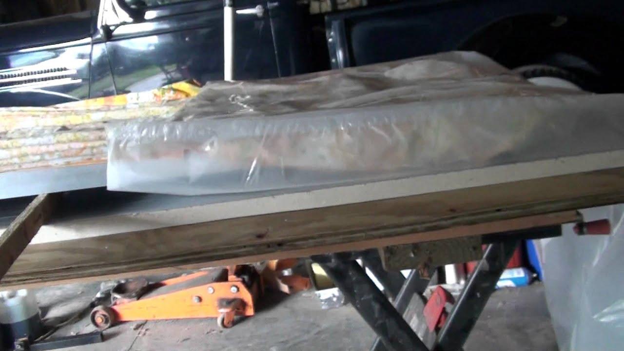 DIY laminator vacuum bag, putting on panel - YouTube